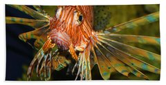 Lion Fish 2 Beach Sheet by Kathryn Meyer