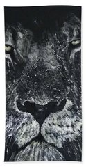 Beach Towel featuring the painting Lion by Kevin Daly