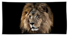 Lion King Of The Jungle 2 Beach Towel