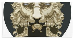 Lion Knocker Beach Towel