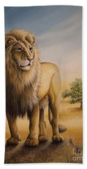 Lion Of Africa Beach Towel