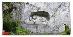 Beach Sheet featuring the photograph Lion Of Lucerne by Joseph Hendrix