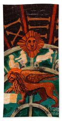 Beach Sheet featuring the painting Lion Of St. Mark by Genevieve Esson