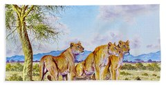 Lion Pack Beach Towel