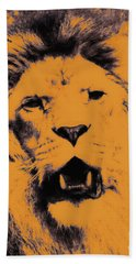Lion Pop Art Beach Towel