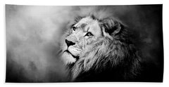 Lion - Pride Of Africa II - Tribute To Cecil In Black And White Beach Sheet