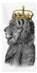 Lion The King Of The Jungle Beach Towel