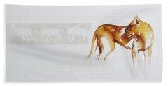 Lioness And Wildebeest Beach Sheet