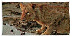 Lioness Beach Towel