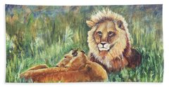 Lions Resting Beach Sheet