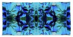 Beach Towel featuring the digital art Liquid Abstract #0059-1 by Barbara Tristan