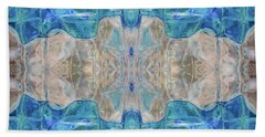 Beach Sheet featuring the digital art Liquid Abstract  #0060-2 by Barbara Tristan