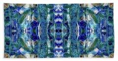 Beach Towel featuring the digital art Liquid Abstract #0061-2 by Barbara Tristan