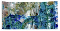 Beach Towel featuring the photograph Liquid Abstract #0061 by Barbara Tristan