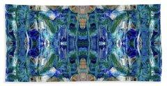 Beach Towel featuring the digital art Liquid Abstract #0061_1 by Barbara Tristan