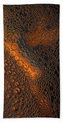 Liquid Copper Glass Beach Towel
