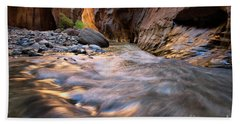 Liquid Gold Utah Adventure Landscape Photography By Kaylyn Franks Beach Towel