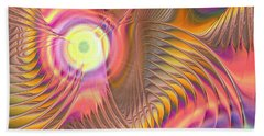 Beach Towel featuring the digital art Liquid Rainbow by Anastasiya Malakhova