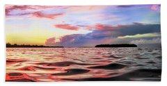 Liquid Red Beach Sheet