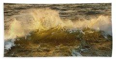 Beach Towel featuring the photograph Liquid Sunbeam by Mary Jo Allen