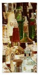 Liquor Bottles Beach Sheet
