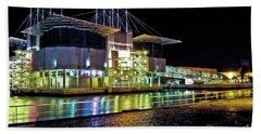 Lisbon - Portugal - Oceanarium At Night Beach Sheet