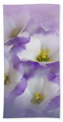 Beach Sheet featuring the photograph Lisianthus Grouping by David and Carol Kelly
