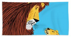 Listen To The Lion Beach Towel