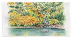 Lithia Park Reflections Beach Towel