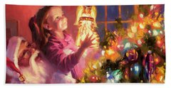 Beach Towel featuring the painting Little Angel Bright by Steve Henderson