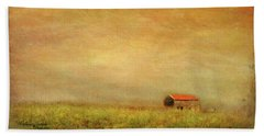 Beach Sheet featuring the photograph Little Barn On The Hill by Wallaroo Images