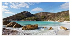 Beach Sheet featuring the photograph Little Beach Two Peoples Bay Nature Reserve by Ivy Ho