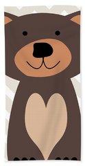 Little Bear Nursery Art Beach Towel