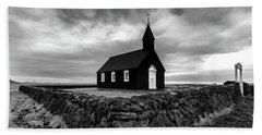 Little Black Church 2 Beach Towel