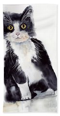 Little Black Scamp Beach Towel