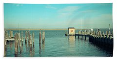 Beach Towel featuring the photograph Little Boat House On The River by Colleen Kammerer
