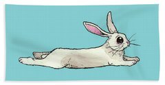 Little Bunny Rabbit Beach Towel by Katrina Davis