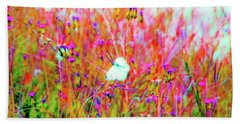 Beach Towel featuring the photograph Little Butterfly Fly by D Davila