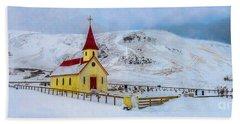 Little Church In The Mountains Beach Towel