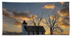 Little Church On The Prairie Beach Towel