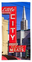 Little City Market North Beach San Francisco Beach Towel