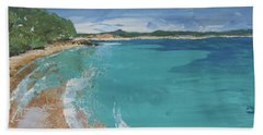 Beach Sheet featuring the painting Little Cove View by Chris Hobel