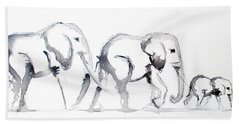Little Elephant Family Beach Towel