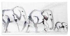 Little Elephant Family Beach Sheet