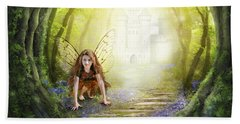 Little Fairy In The Woods Beach Towel