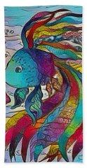 Little Fish 3 Beach Sheet by Megan Walsh