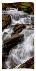 Beach Towel featuring the photograph Little Four Mile Run Falls by Suzanne Stout