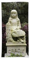 Little Gracie Bonaventure Cemetery Beach Sheet by Jeannette Hunt