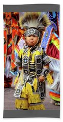 Little Grass Dancer Beach Towel by Clarice Lakota