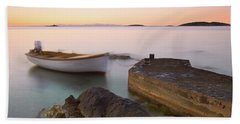 Beach Towel featuring the photograph Little Haven by Davor Zerjav